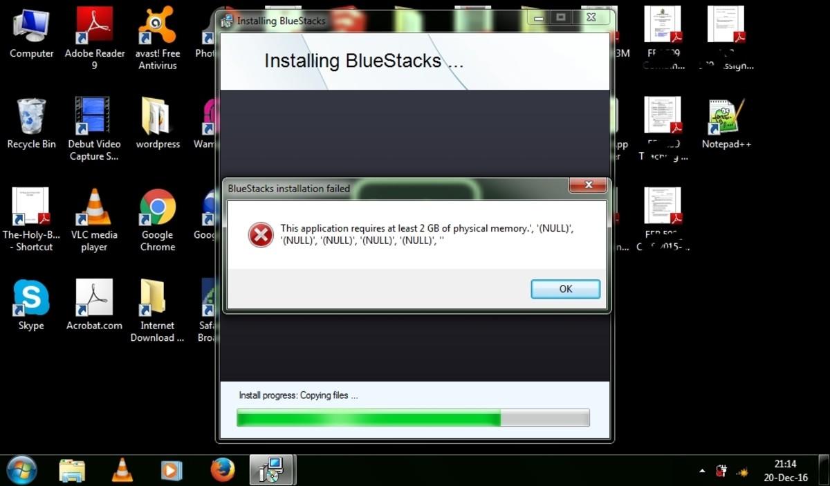 Fix BlueStacks Physical Memory & Graphics Card 25000 Errors