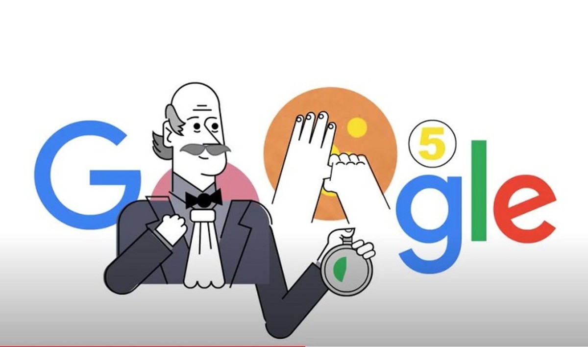 This doodle recognizes Hungarian physician Dr. Ignaz Semmelweis, widely attributed as the first person to discover the medical benefits of handwashing.