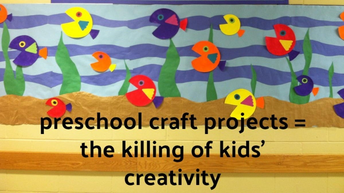 Preschool craft projects look great on bulletin boards or displayed on a refrigerator at home, but they do nothing to stimulate a child's imagination and initiative.