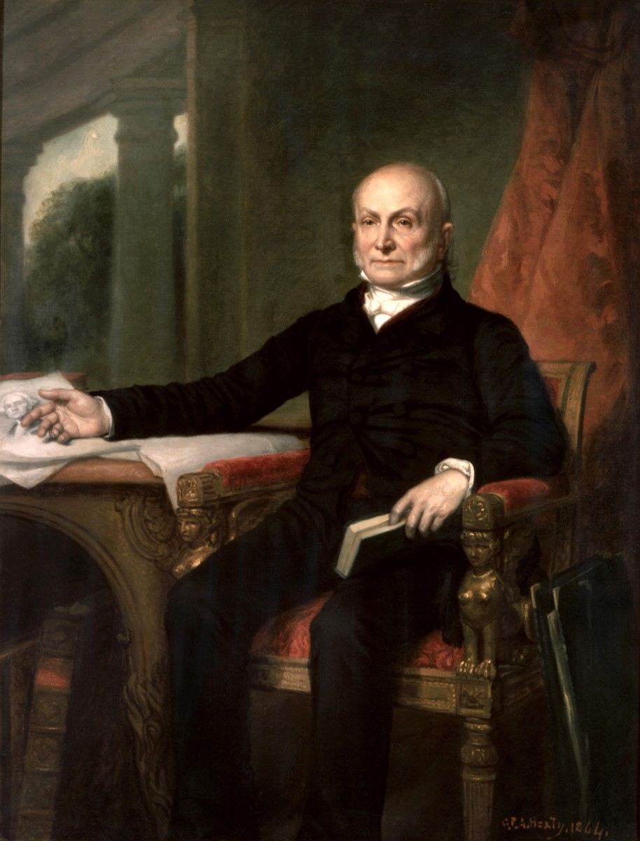 John Quincy Adams was much like his father, very quiet and conservative.