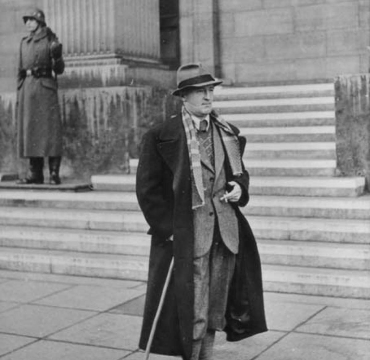 William Joyce looking suave in Germany.
