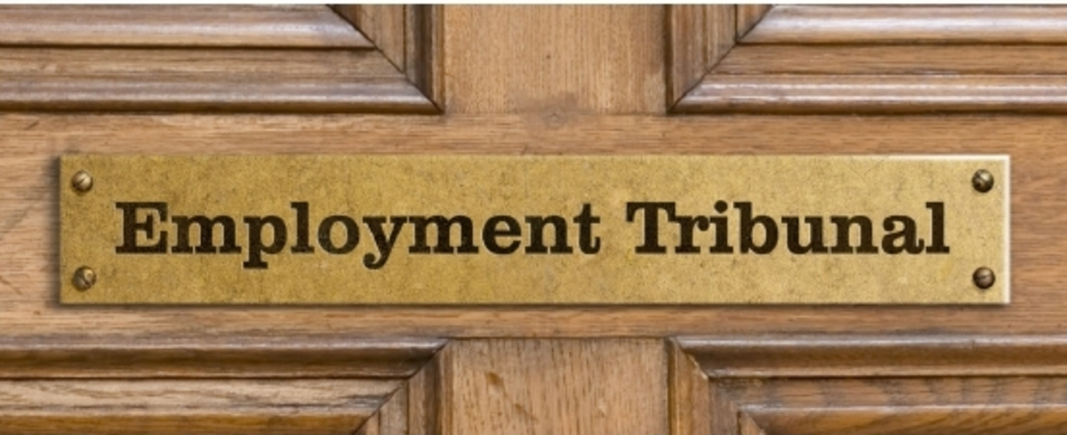 A door sign for an employment tribunal.