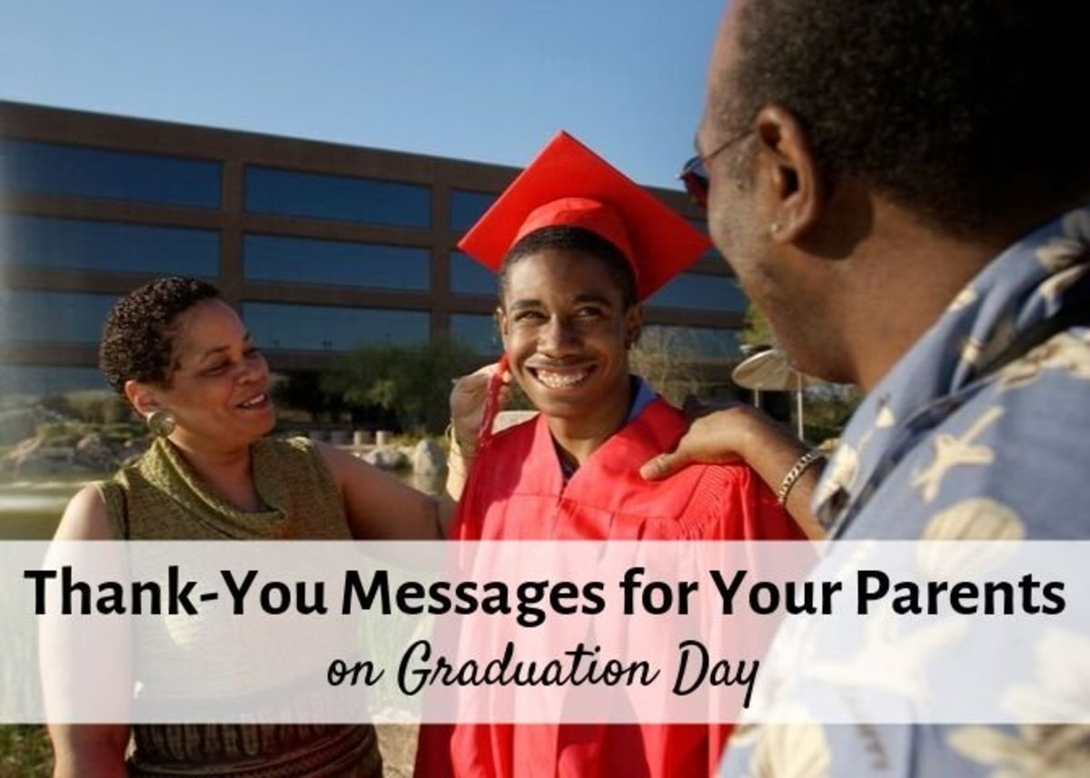 Thank-You Messages for Your Parents on Graduation Day