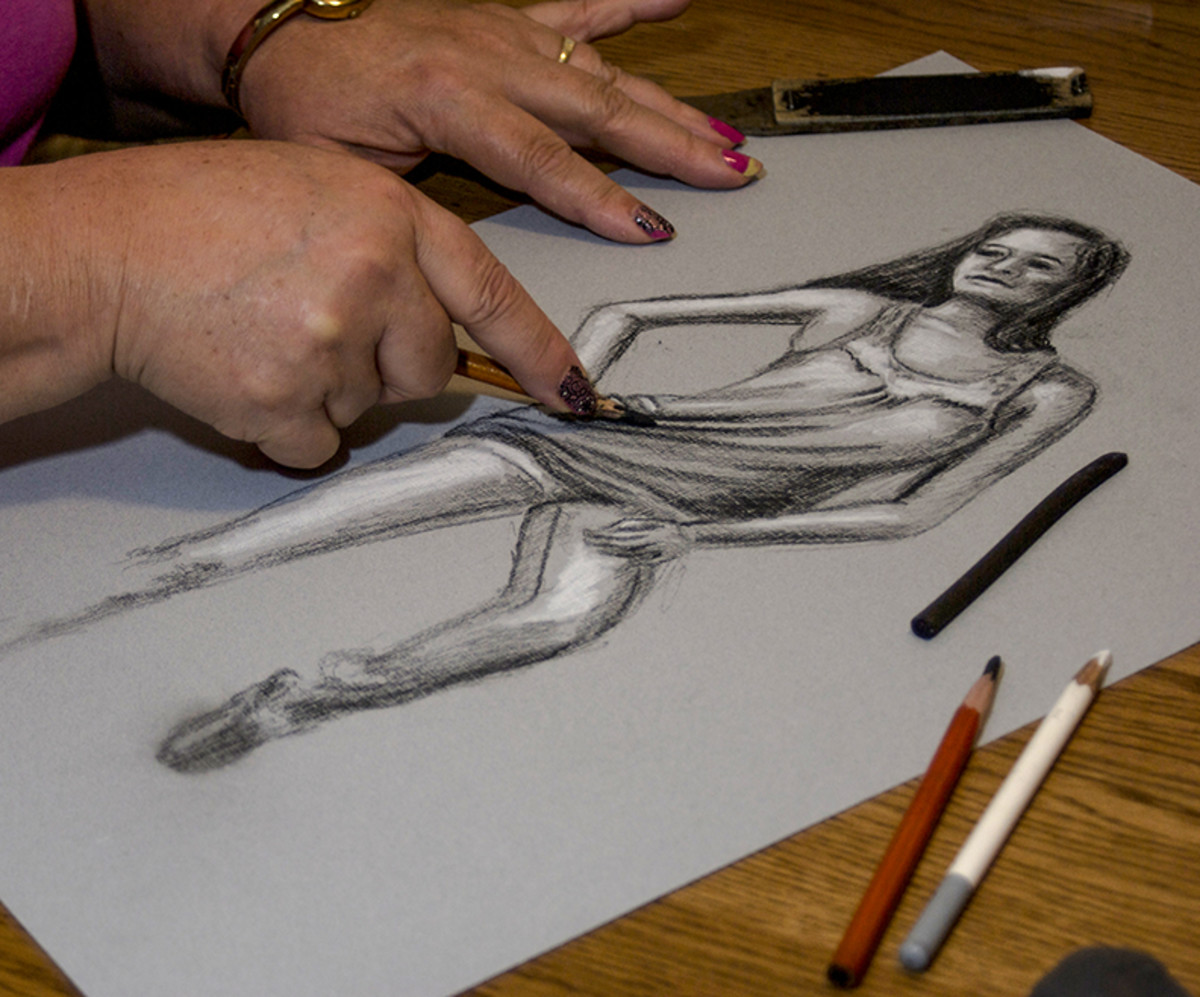 My charcoal drawings from a live model.