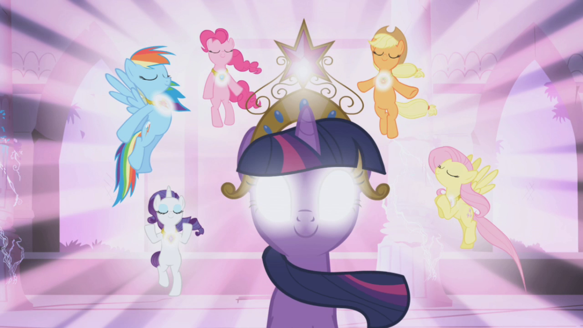 A moment from the first season of My Little Pony: Friendship is Magic. And an iconic one, too.