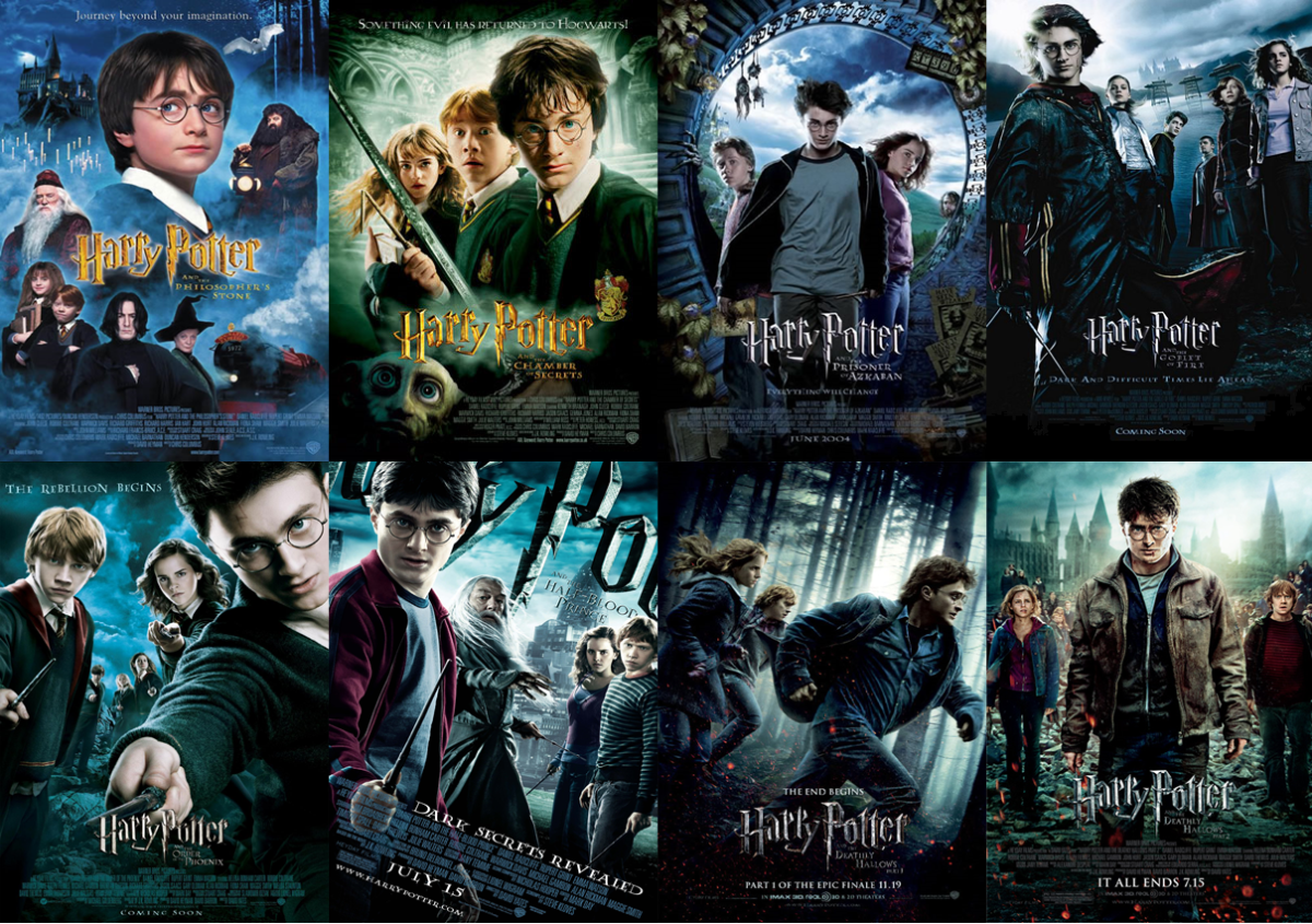 Image result for harry potter movies in order