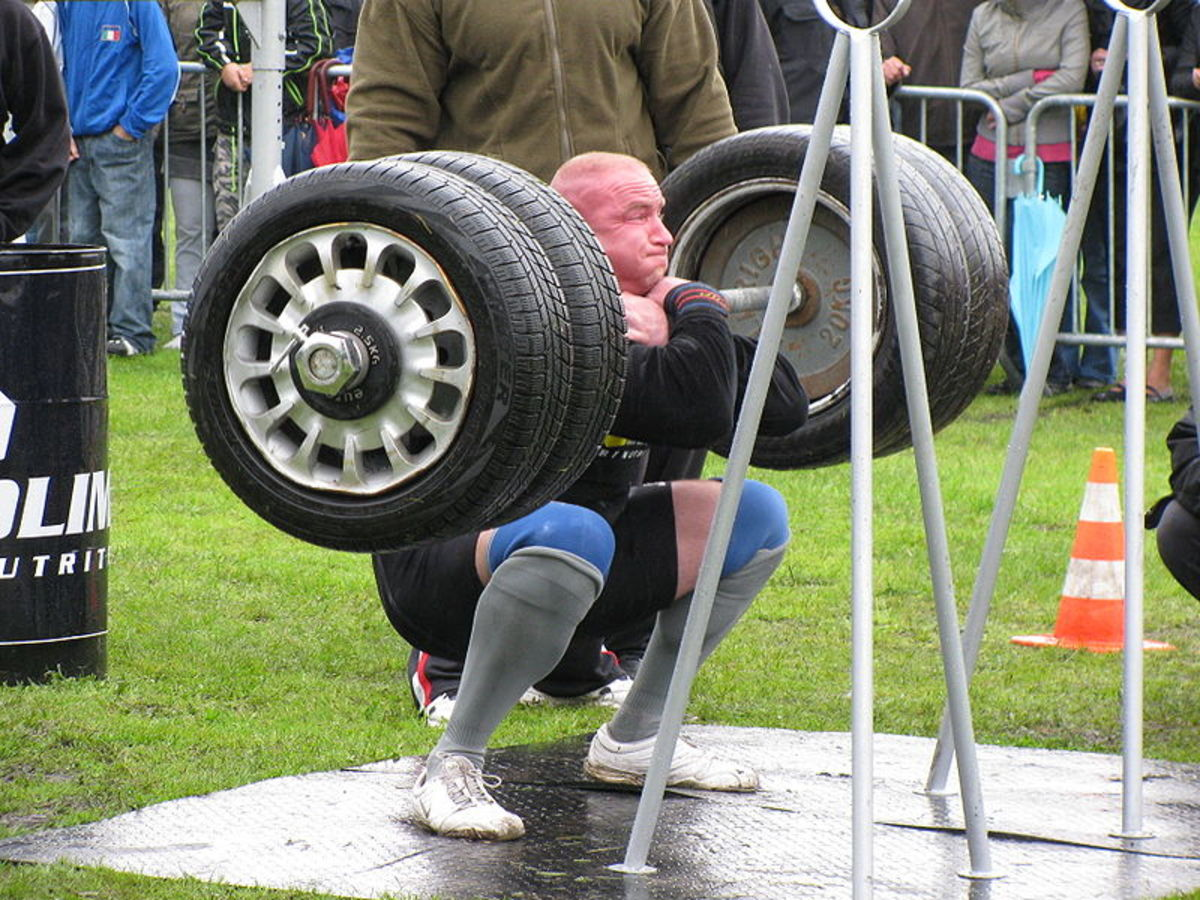 You don't have to take the tires off your car to benefit from doing squats.