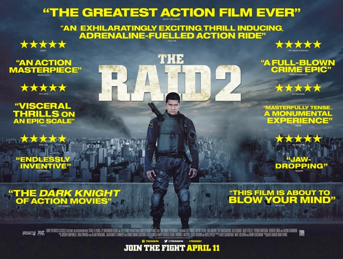 """Promotional poster for """"The Raid 2"""""""