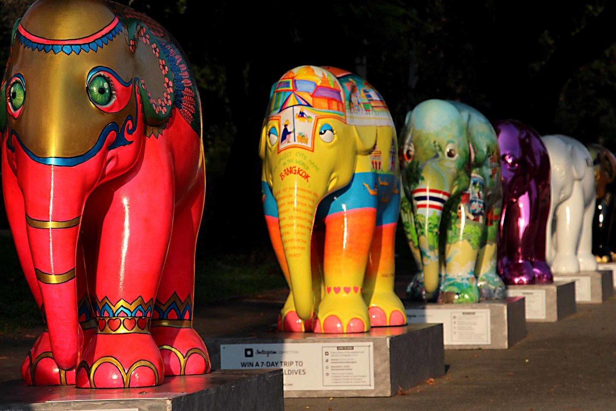 The day the elephants came to town. The Elephant Parade in Bangkok