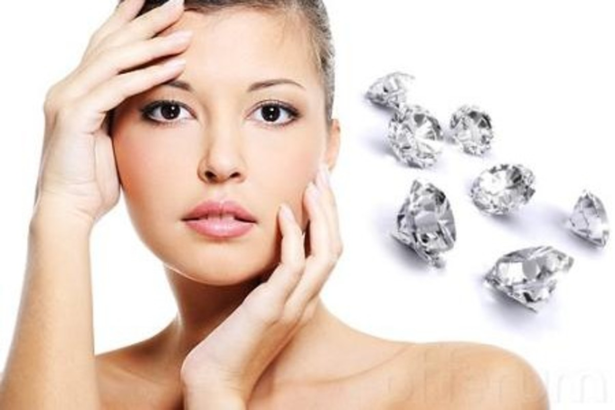 Diamonds are used in some salons to abrade clients' skin and remove dead cells.