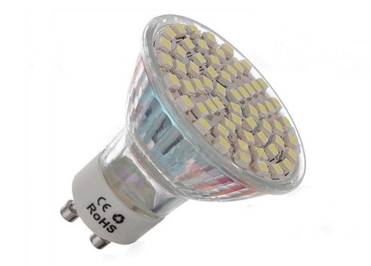 An LED spotlight.