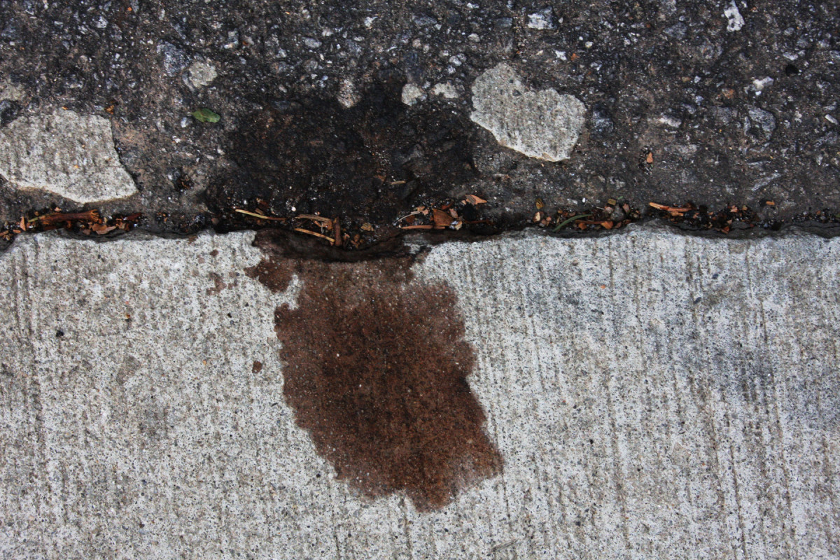 A leak on your engine may leave oil spots on your driveway.
