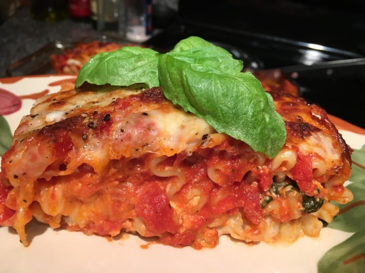 Spinach Prosciutto Lasagna Rolls