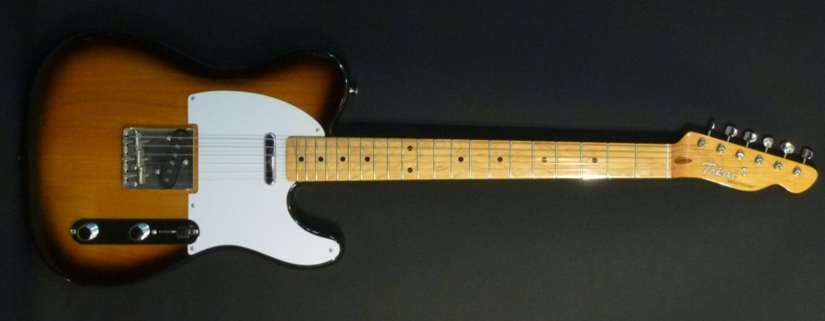The image is a Tokai Telecaster.