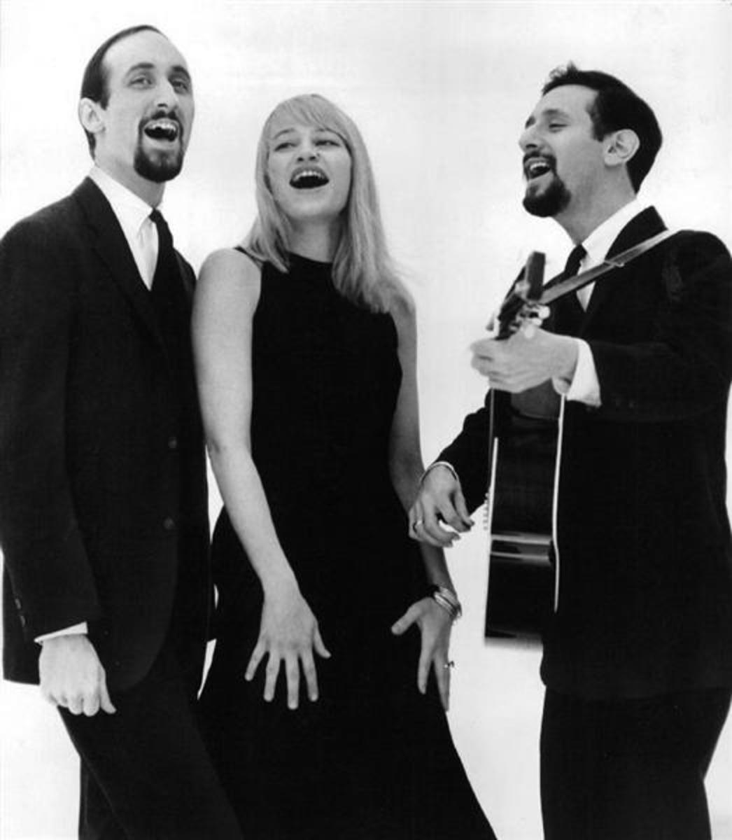 A photo of Peter, Paul and Mary dated May 21, 1963