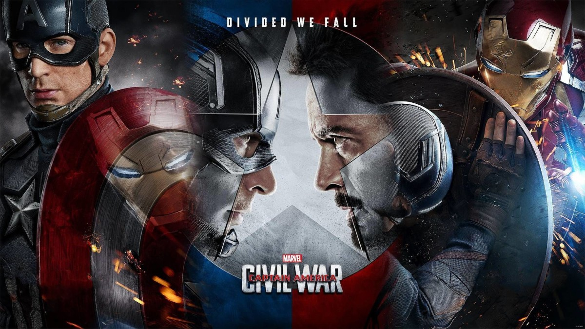 "Promotional poster for ""Captain America: Civil War"""