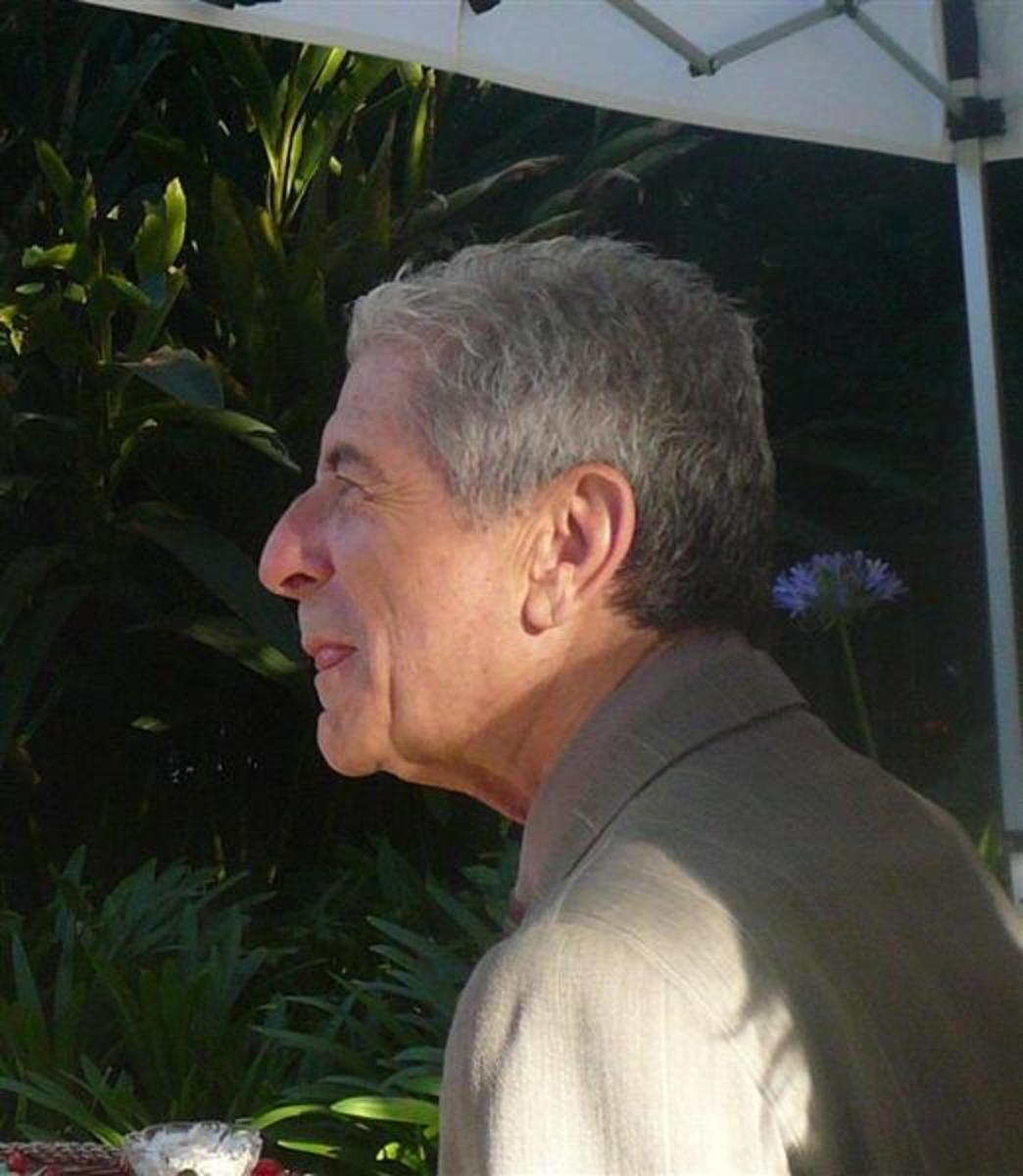 Leonard Cohen at Canada House in Los Angeles, July 2007