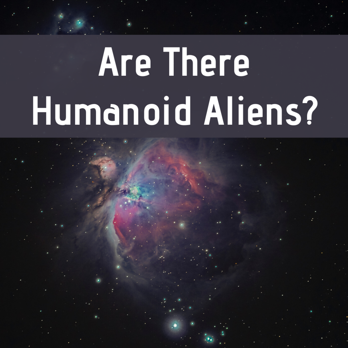 Review whether or not it's likely that humanoid alien species exist.