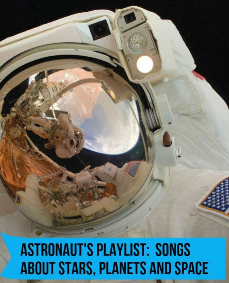 Space is often a metaphor for the uncertainty and the unknown. If you love the moon, stars, and space, customize your own playlist of songs that reference the galaxy.