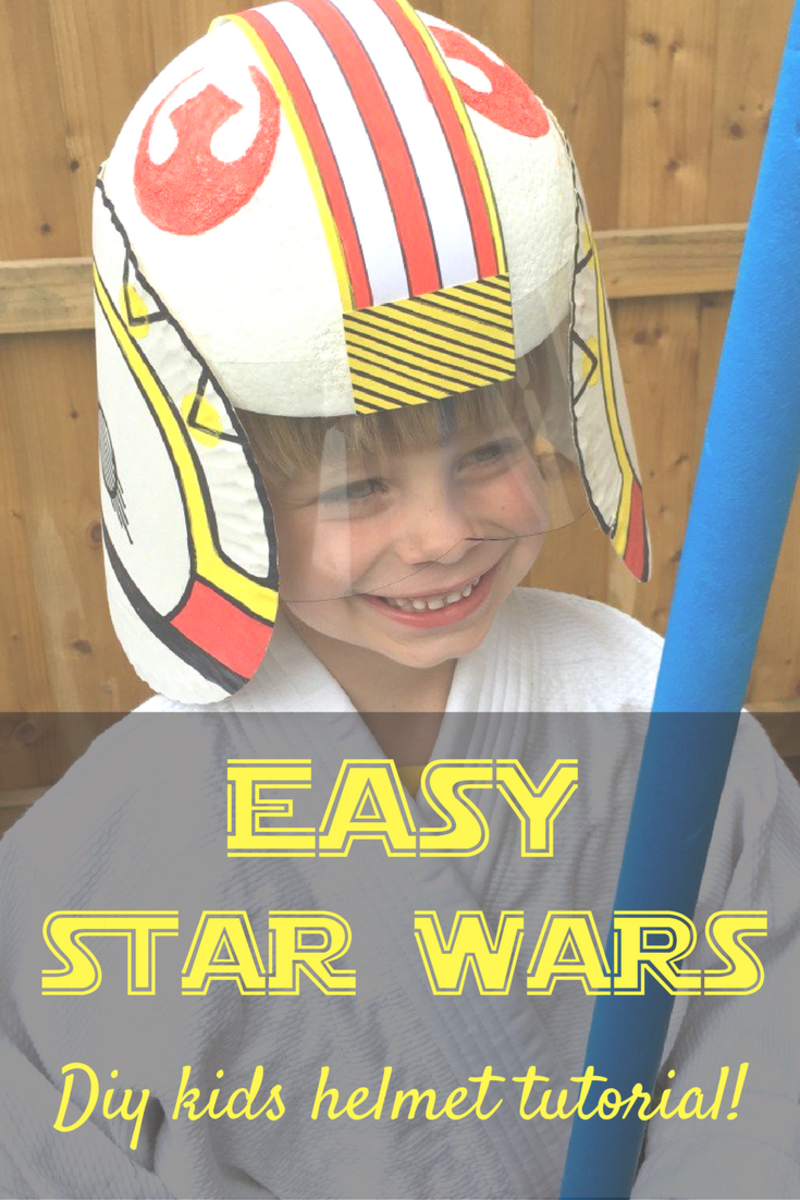 Kids DIY Star Wars Helmet Tutorial