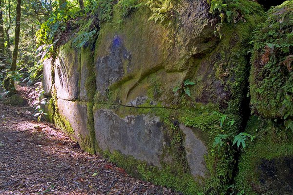 The lines do make for a good argument that it's a real wall; however, nature can be tricky.