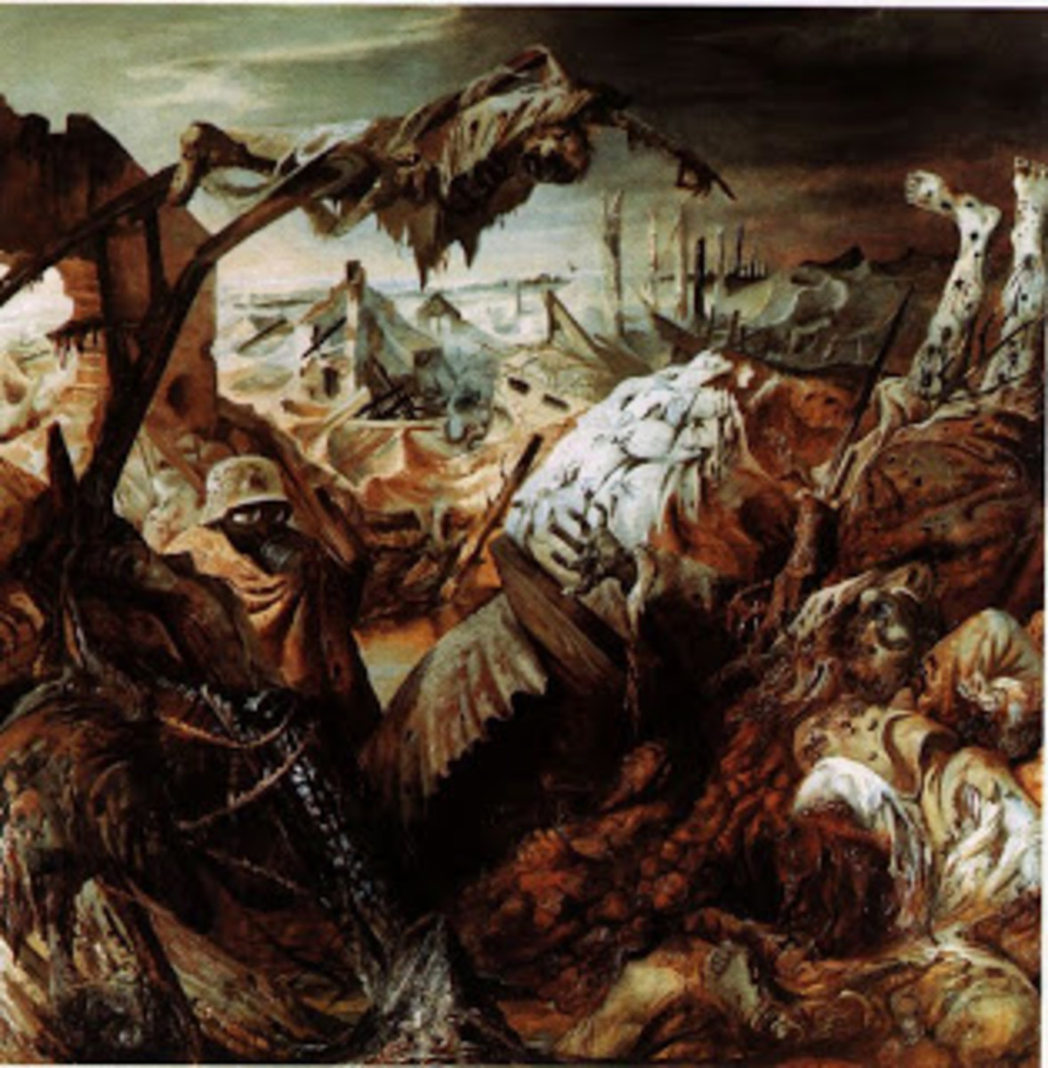 """Trench Warfare"" From Otto Dix, 1932 - ""I buried my face into the mud of the crater, waiting for the onslaught to disperse, or for the sergeant's whistle for retreat."""