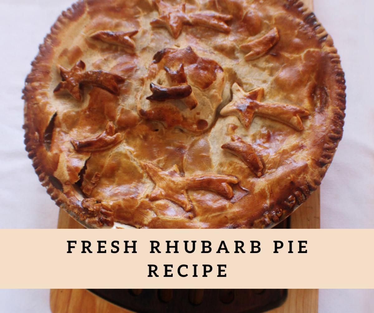 Farm Fresh Rhubarb Pie
