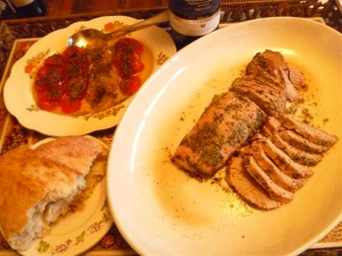This pork tenderloin retained its juices because of the way it was cooked....delicious!