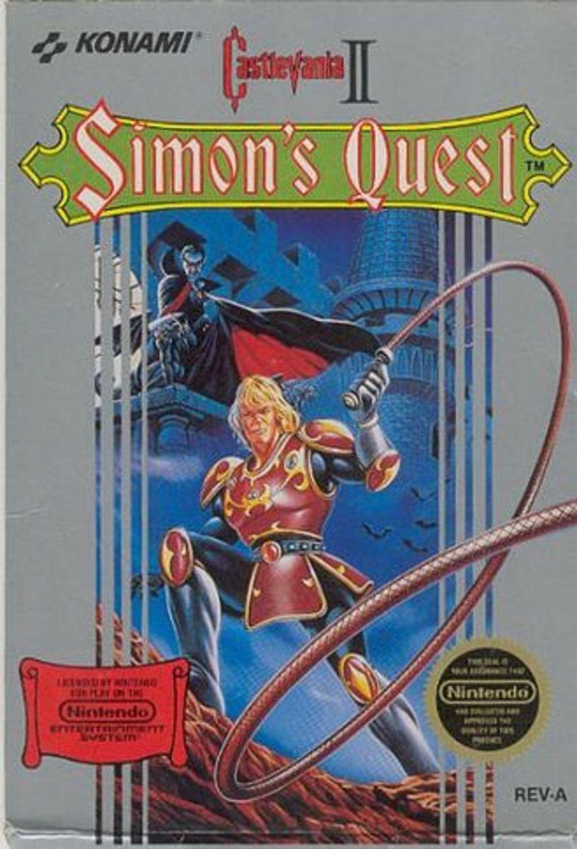 Castlevania II: Simon's Quest North America box art.
