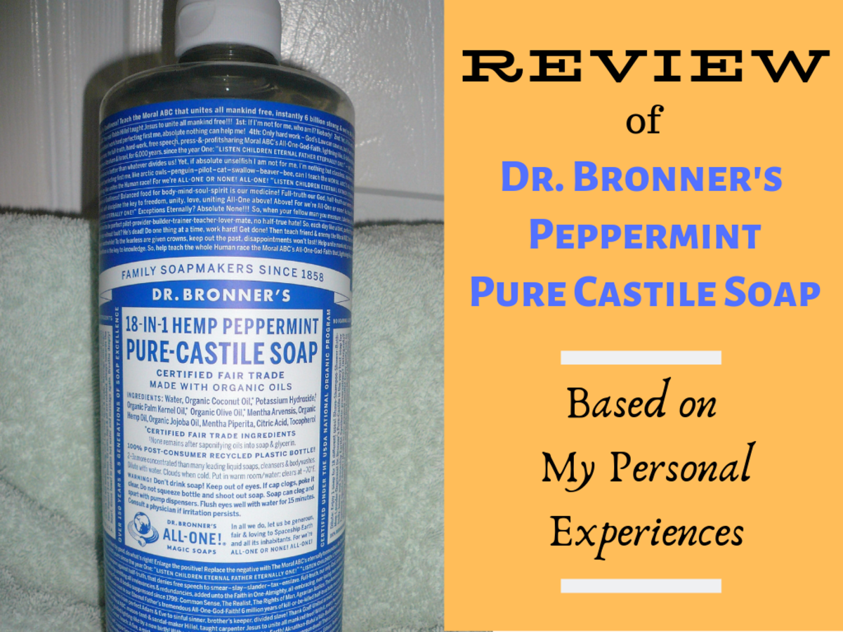 Review of Dr. Bronner's 18-in-1 Liquid Hemp Peppermint Pure Castile Soap