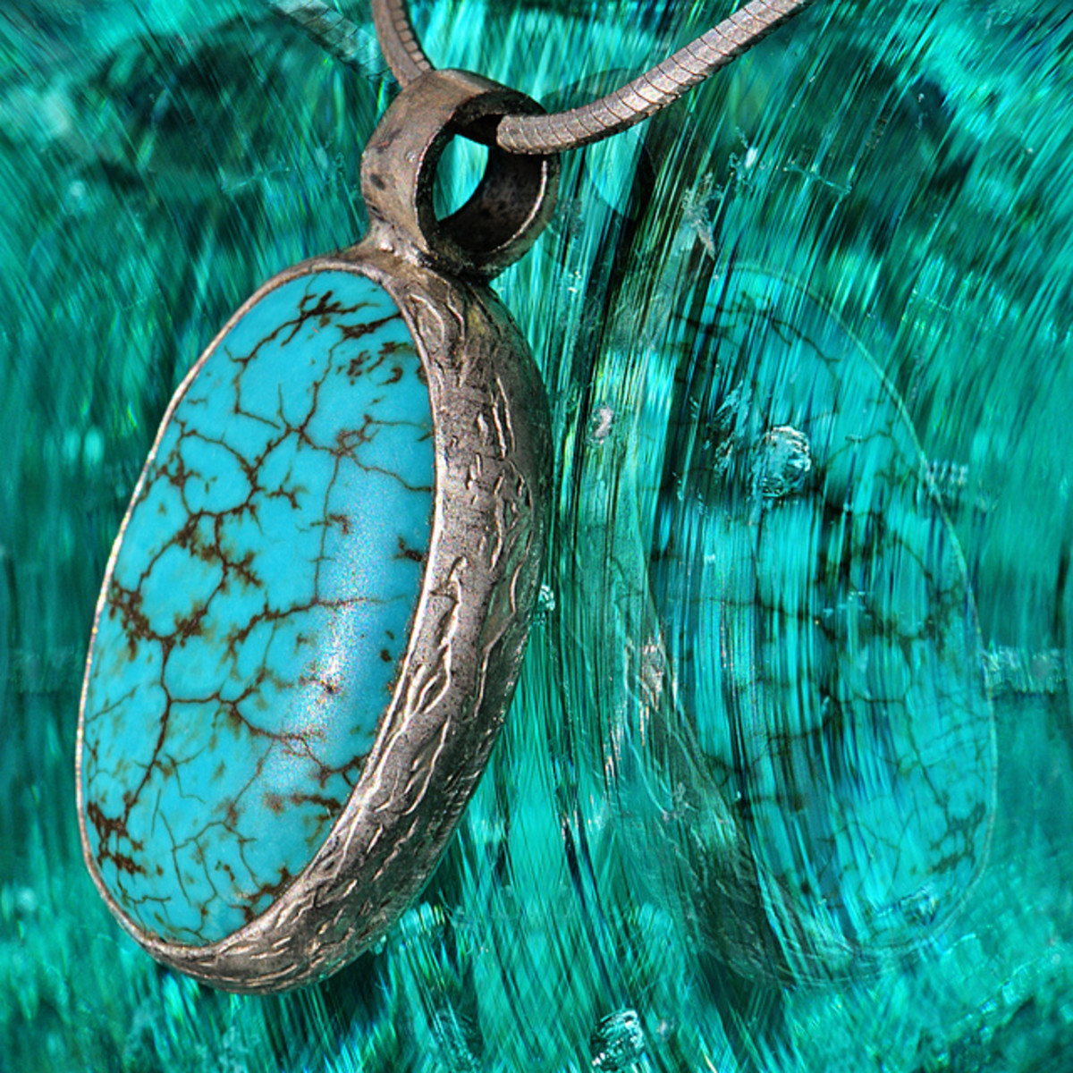 A turquoise pendant can easily be worn over the throat chakra.