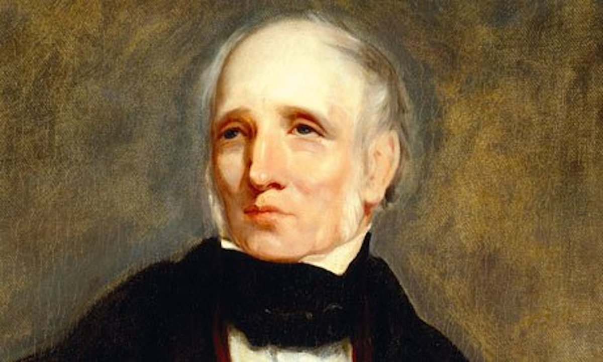 A painting of William Wordsworth at Wordsworth House, Cockermouth.