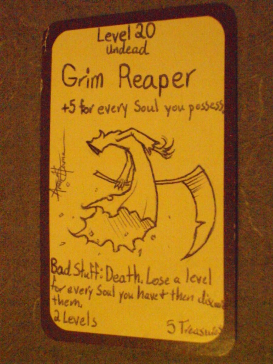 Munchkin Custom Card Ideas: Grim Reaper