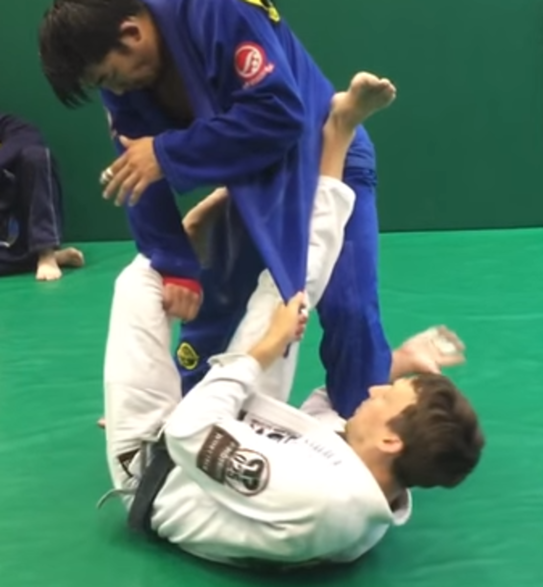 Utilizing the lapel guard.