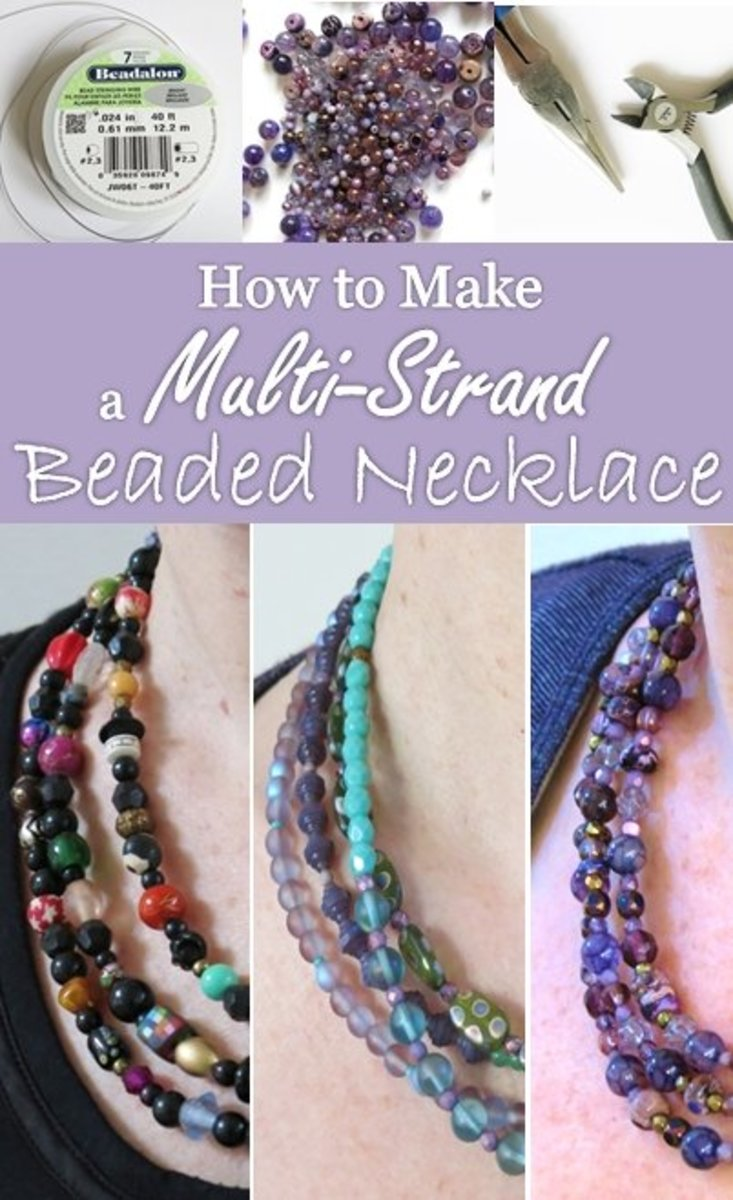 It's easy to make a multi-strand beaded necklace!