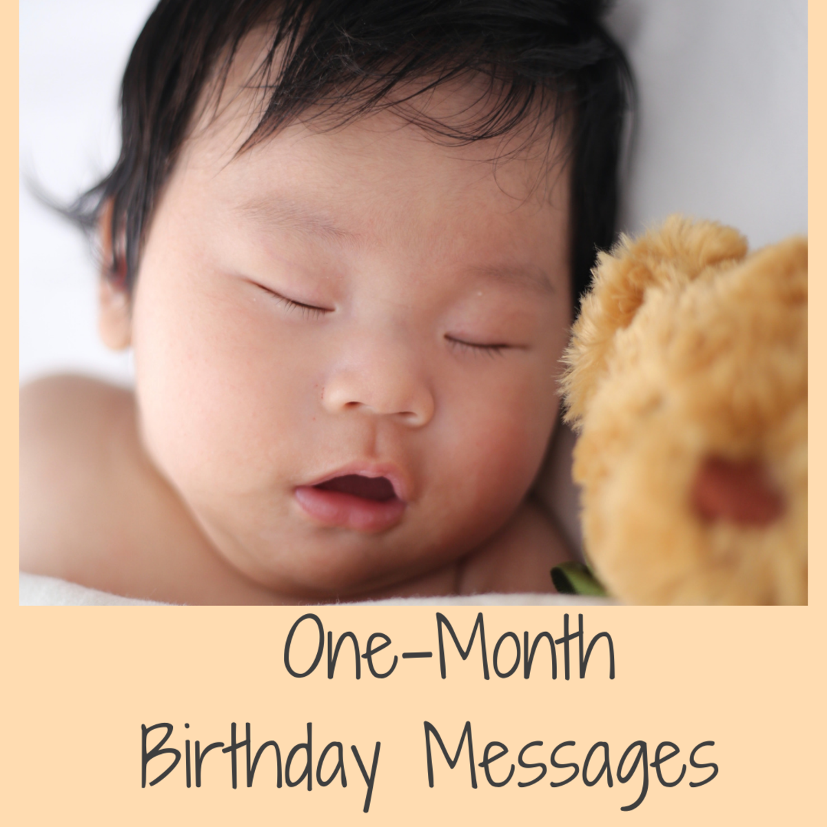 Here are some examples of what to write in a card for a one-month-old baby and their parents.