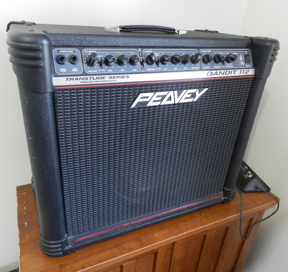 My 80-watt solid-state Peavey Bandit is plenty loud.