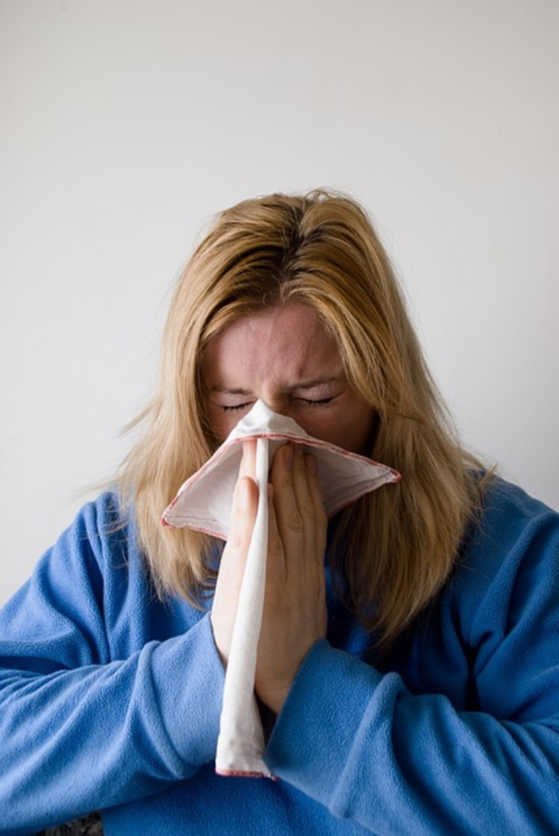 Using a tissue or hankerchief to cover ones nose when having to blow it or even sneeze.