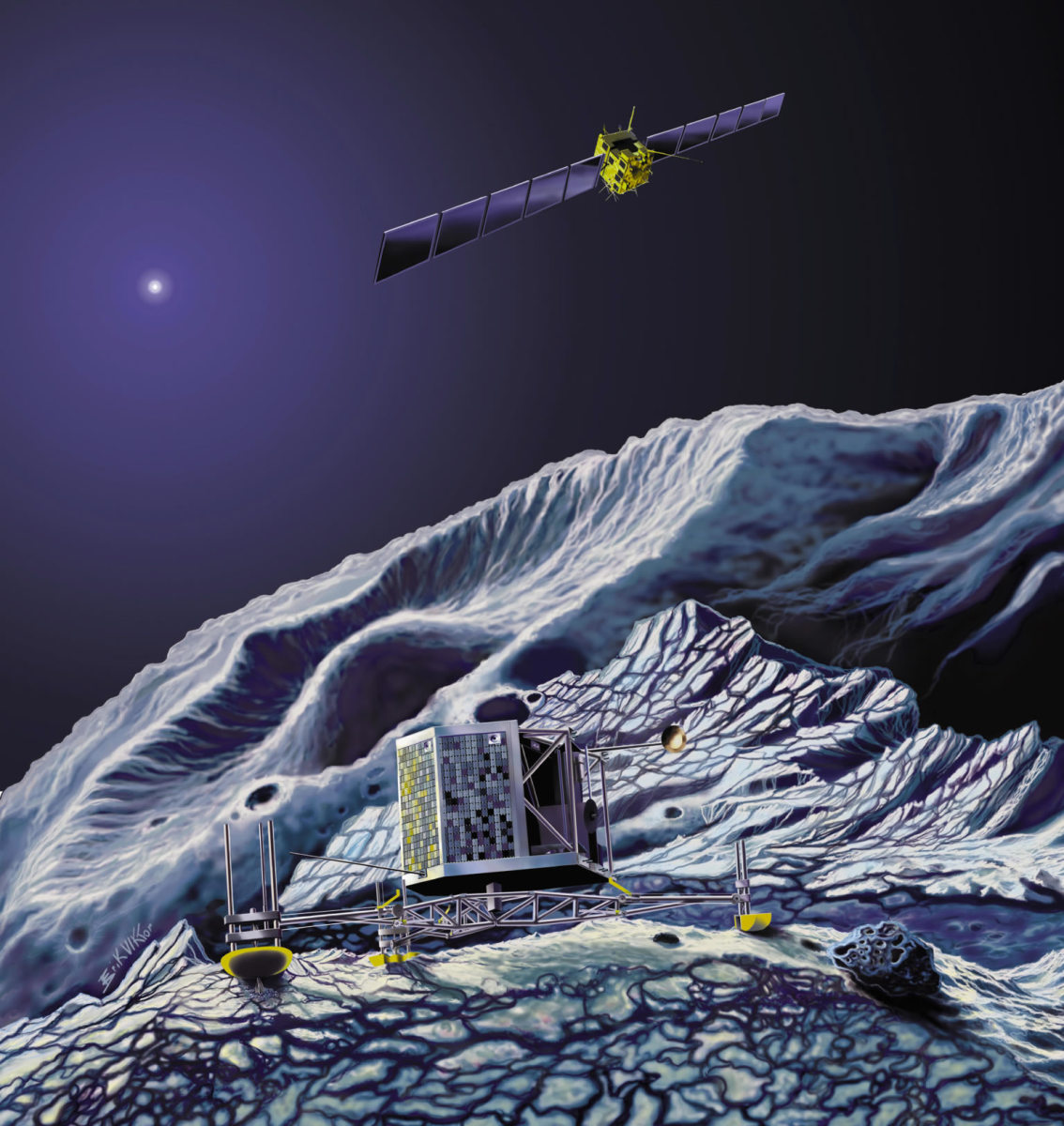 The Rosetta Space Craft and the Mission to Comet 67P/Churyumov-Gerasimenko