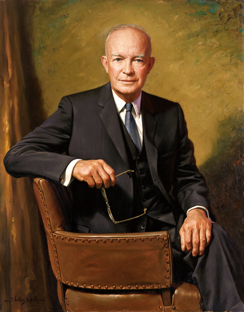 Dwight d eisenhower 34th president an avid painter owlcation official white house photo publicscrutiny Image collections