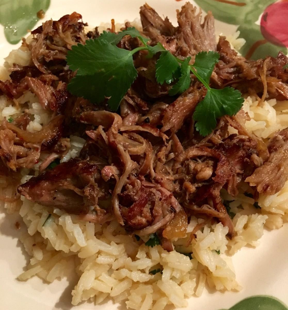 Slow Cooker Pork Carnitas With Cilantro Rice