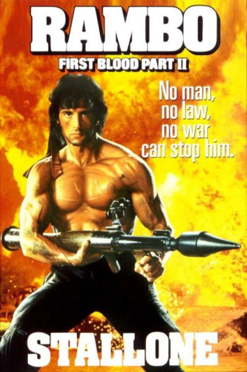 """Promotional poster for """"Rambo: First Blood - Part II"""""""