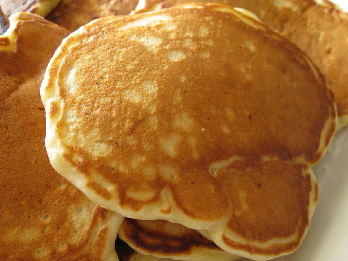 The completed pikelets.