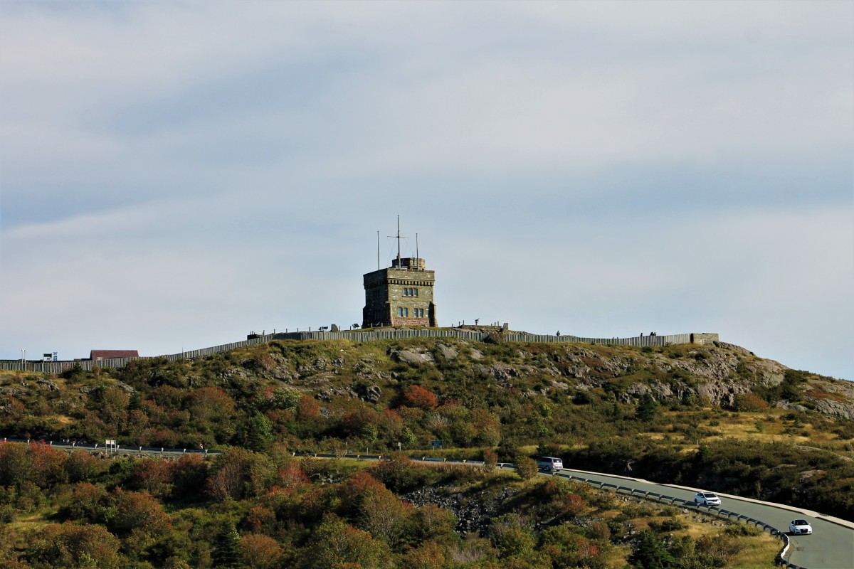 Looking up Signal Hill Toward Cabot Tower