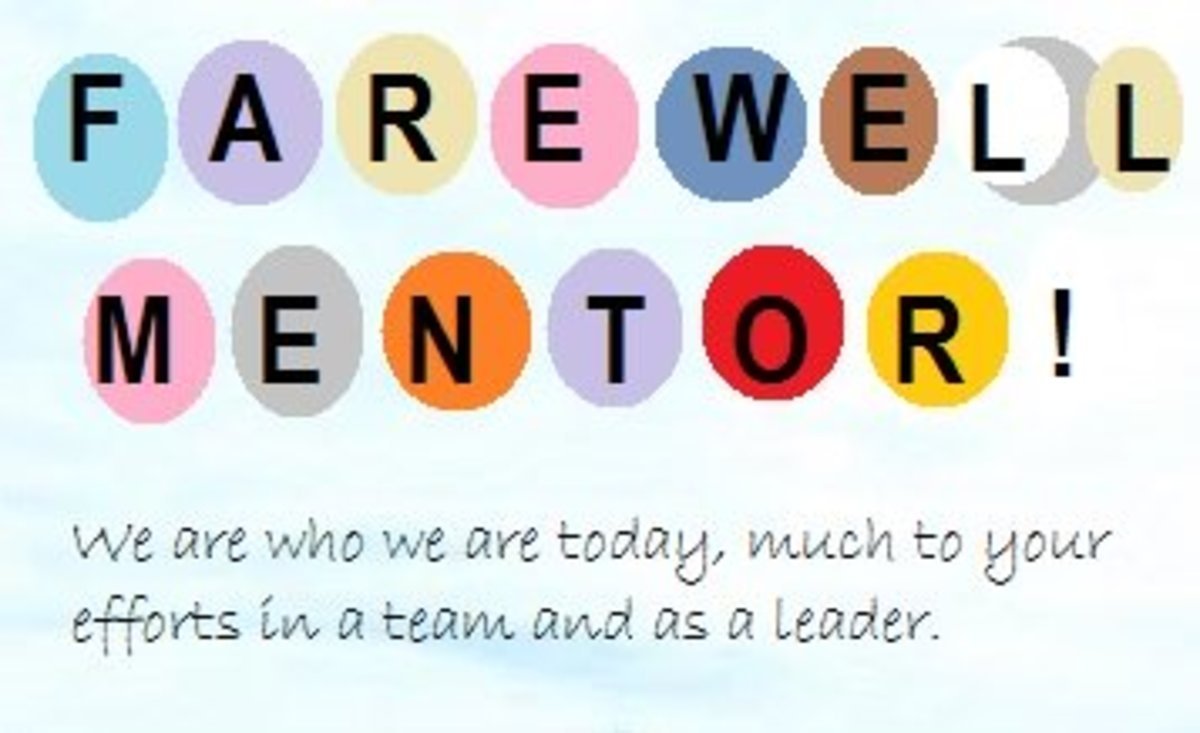 Farewell message for mentor
