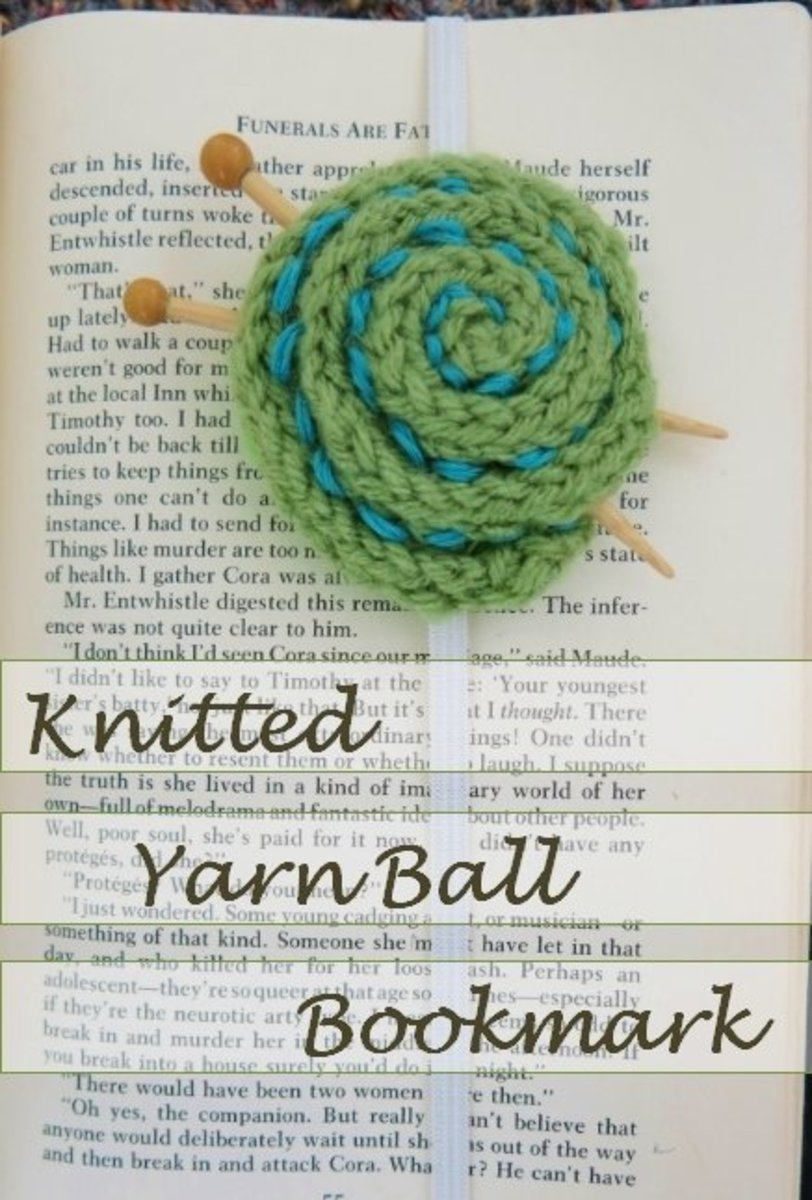 Free Knitting Pattern for an Easy Yarn Ball Bookmark