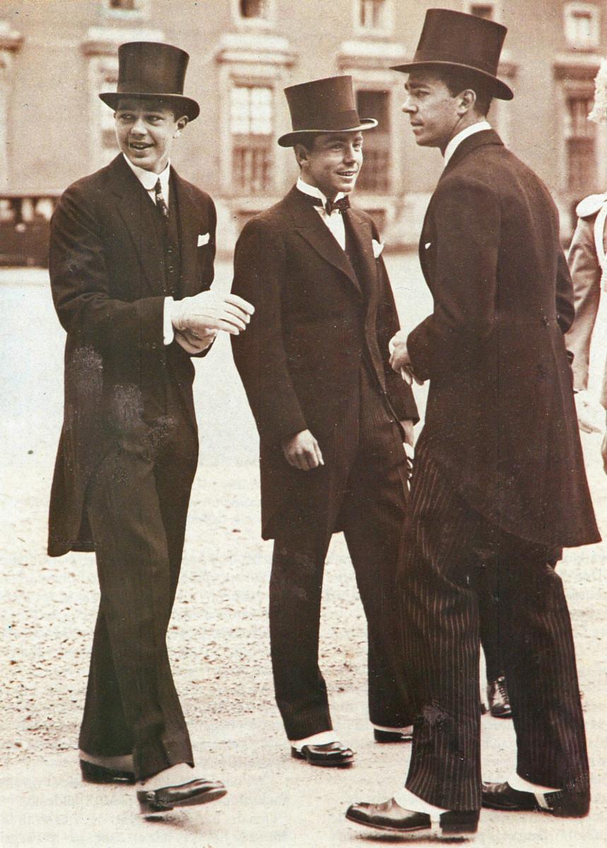 Princes Bertil, Sigvard, and Gustav Adolf of Sweden