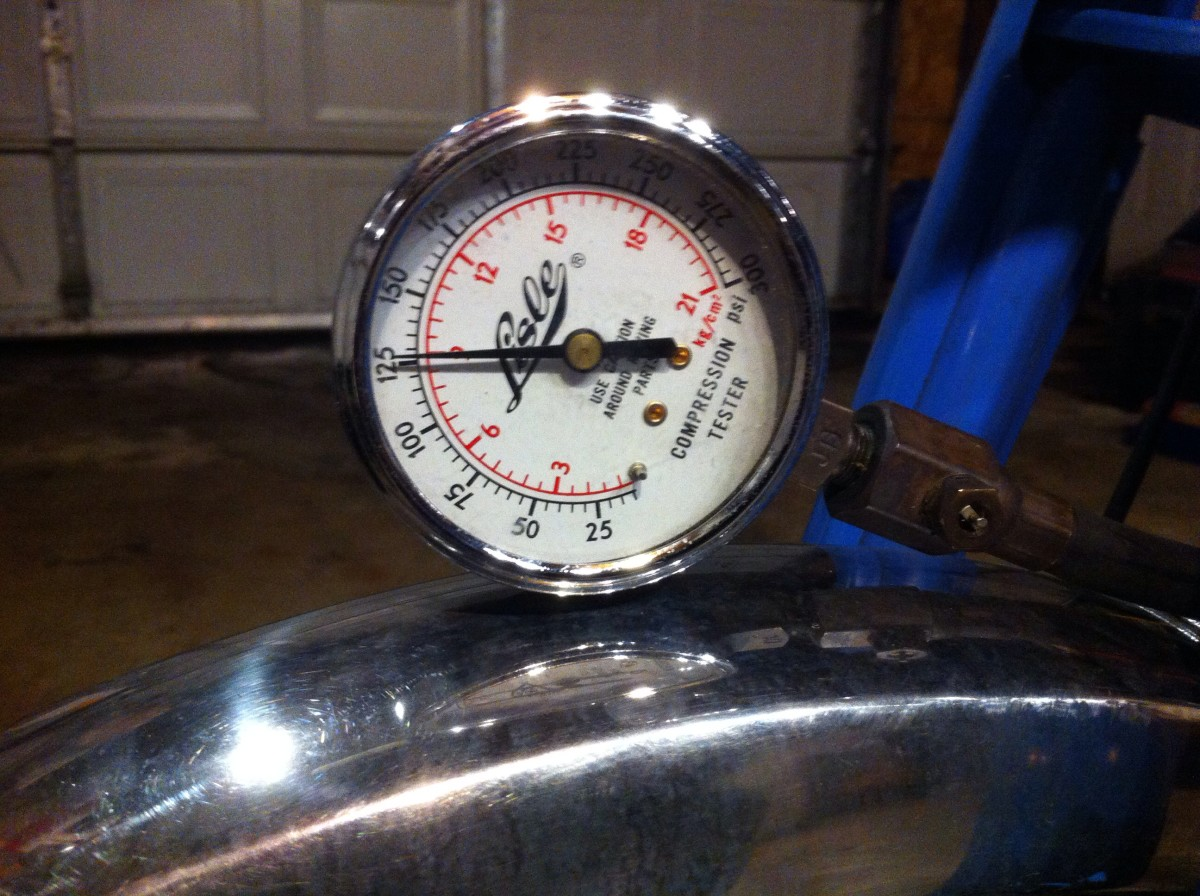 A compression gauge test can reveal the condition of valves, head gasket, pistons, cylinders, rings and more.