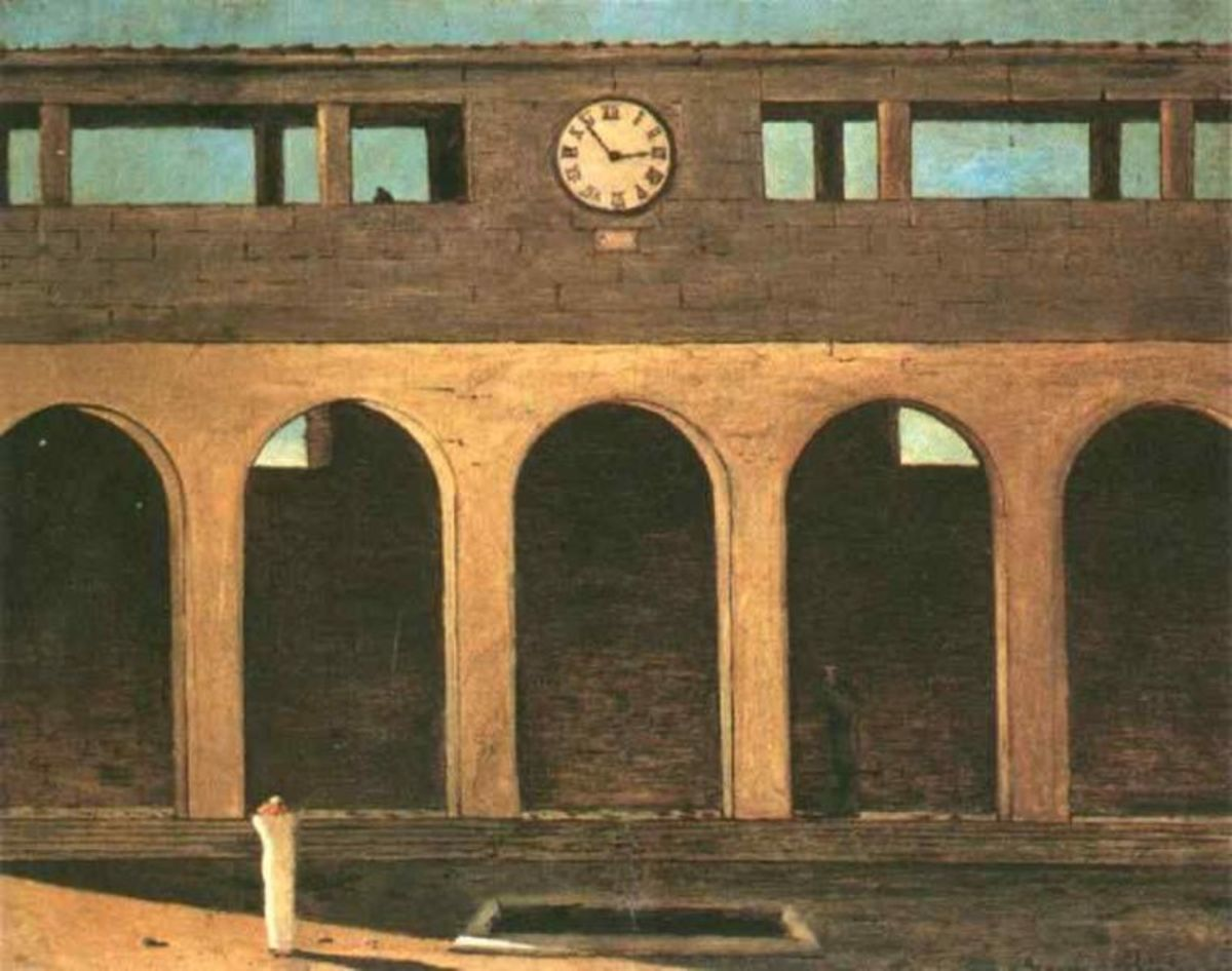 The Enigma of the Hour by Giorgio De Chirico (1911)