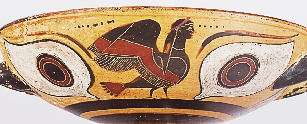 This is an early rendition of a mythical Siren created in the 6th century BC. Local myths are often part of oral storytelling.